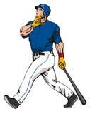 Baseballgeschlagener eierteig, der oben schaut stock abbildung
