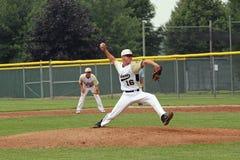 baseballhögstadium Arkivfoto