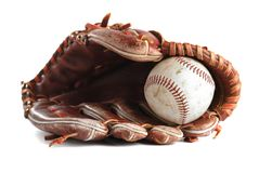 Baseballhandschuh stockbild
