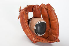 Baseballhandschuh mit Ball Stockfotos