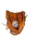 Baseballhandschuh mit Ball lizenzfreies stockfoto