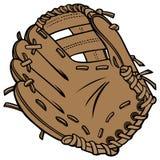 Baseballhandske royaltyfri illustrationer