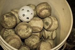 Baseballhink royaltyfri foto