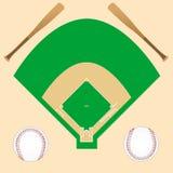 Baseballhintergrund Lizenzfreie Stockbilder