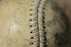 Baseballi ściegi obraz stock