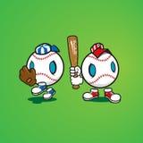 Baseballi charaktery Obrazy Stock