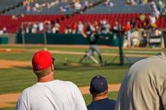 baseballi fanów Obrazy Royalty Free