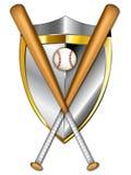 baseballillustrationsköld Arkivbild