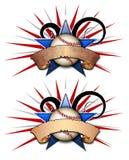 baseballillustrationstjärna två Arkivfoto