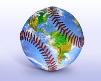 Baseballjordklot Fotografering för Bildbyråer