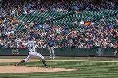 Baseballkanna Tyler Anderson Royaltyfria Bilder
