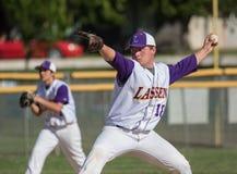 Baseballkannan spolar upp Arkivfoto