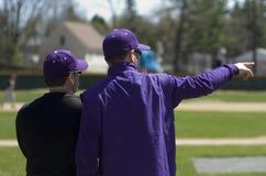 baseballlagledare Arkivbild