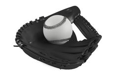 Baseballlederhandschuh lokalisiert Lizenzfreies Stockbild