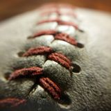 Baseballmakro Arkivbild