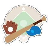 Baseballmaterial Stockfoto