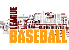 baseballoklarhetsord Arkivfoto