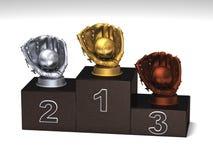 Baseballpodium Lizenzfreie Stockfotografie