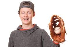 Baseballpojke Arkivfoto