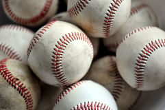 Baseballs. Several practice baseballs. Time for spring training royalty free stock images