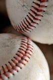 Baseballs. Closeup of two baseballs. Time for spring training Royalty Free Stock Photos