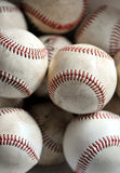 Baseballs. Closeup of several practice balls. Time for spring training stock photos