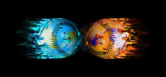 Baseballs royalty free illustration