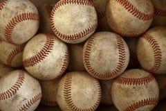 Baseballs. Group of old, dirty baseballs Royalty Free Stock Photos
