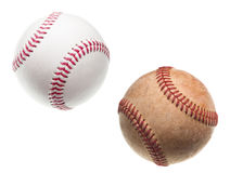 Baseballs old and new Stock Photography