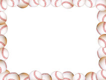 Baseballs Picture Frame. Abstract image of baseballs making a picture frame stock photos