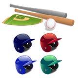 Baseballs Vectorillustratie Royalty-vrije Stock Foto's