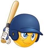 Baseballsmetemoticon Arkivfoto