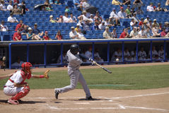 Baseballspiel Stockfoto
