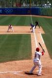Baseballspiel Stockbild