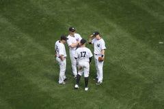 Baseballspiel New- Yorkyankee stockbilder