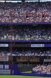 Baseballstadion med fans Royaltyfri Foto