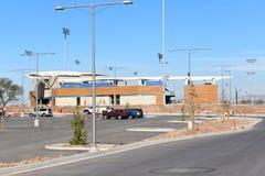 Baseballstadion under konstruktion Royaltyfria Bilder