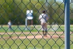 Baseballstaket arkivfoto