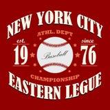 Baseballt-shirt Grafikdesign Lizenzfreie Stockbilder