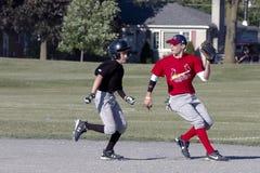 baseballungdom Arkivbilder