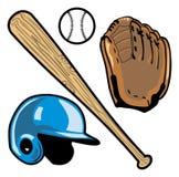 Baseballutrustning Royaltyfria Foton