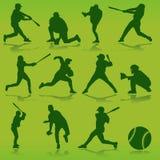 baseballvektor Arkivbilder