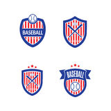 Baseballvektor Logo Template Royaltyfria Bilder