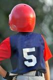 Baseballvorwärmungsgeschlagener eierteig Stockfotos