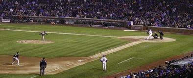 Basebol - ação da liga principal! Imagens de Stock
