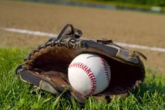 Basebol & luva Imagem de Stock