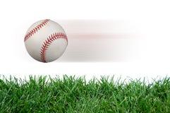 Basebol após o impacto Fotografia de Stock Royalty Free