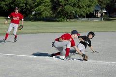 Basebol da juventude Fotografia de Stock
