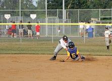 Basebol da liga júnior Foto de Stock Royalty Free