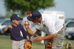 Basebol da liga júnior foto de stock